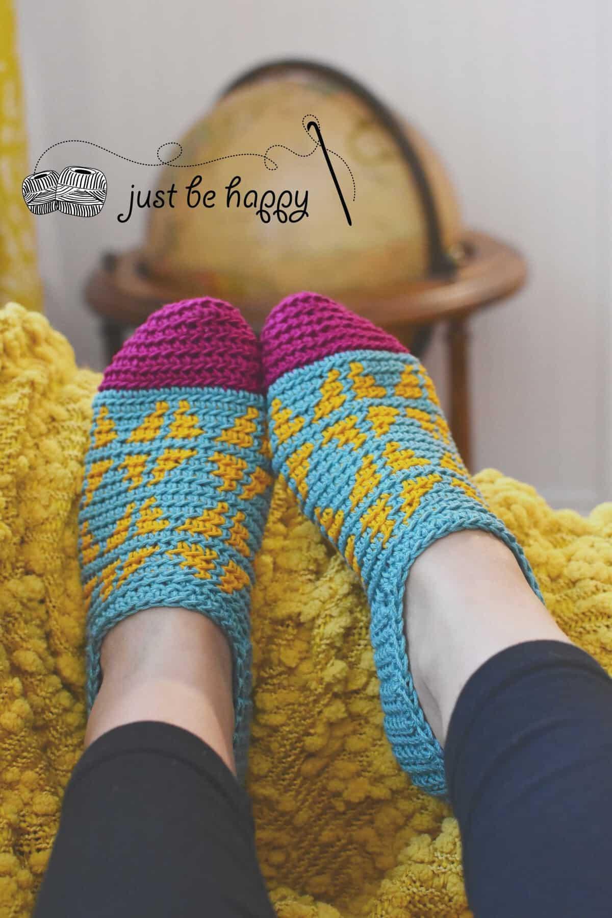 Fair Isle Slippers | Alessandra Hayden