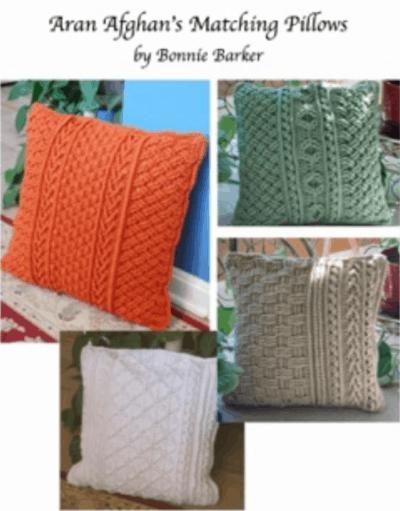 Aran Afghans Matching Pillows | Bonnie Barker