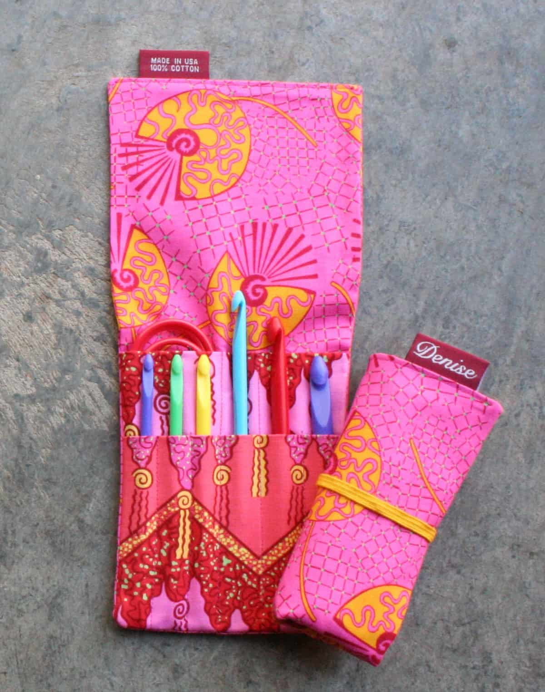 Denise Interchangeable Knitting & Crochet | Bright Pink Crochet