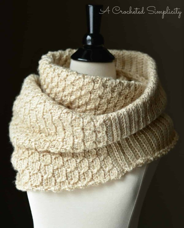 Knit Look Infinity Stitch Cowl | Jennifer Pionk_