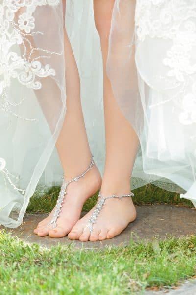 Silver Barefoot Sandal