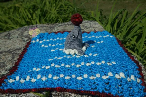 Playful Dolphin Security Blanket | RaeLynn Orff
