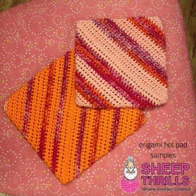 Crochet Origami Hot Pads | Sheep Thrills Yarn Store