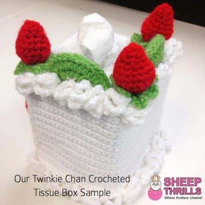 Twinkie Cha Tissue Box | Sheep Thrills Yarn Store