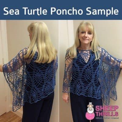 Sea Turtle Crochet Poncho | Sheep Thrills Yarn Store