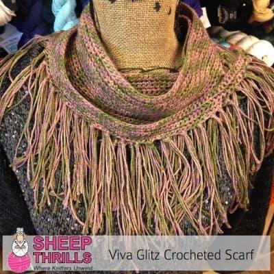 Viva Glitz Crochet Shawlette | Sheep Thrills Yarn Store