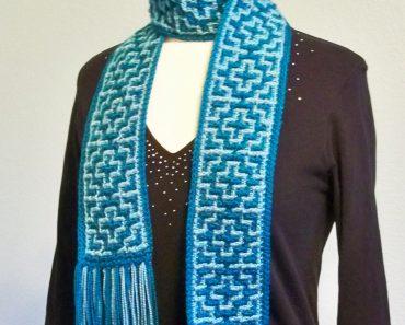 Crochet Mosaic Scarf | Susan Lowman
