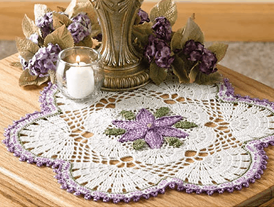 Passionflower Beaded Doily | Brenda Stratton