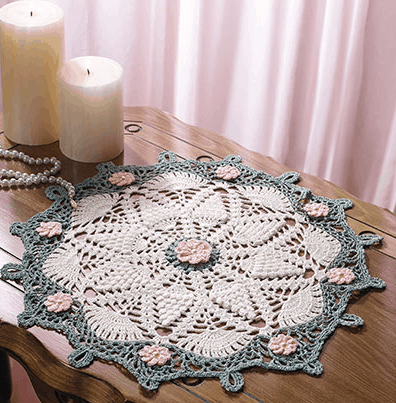 Vintage Floral Lace Doily | Brenda Stratton