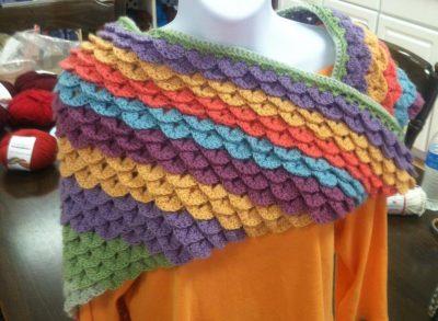 Common Threads Yarn Shop | Crocodile Stitch Shawl