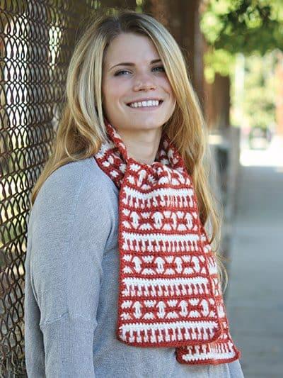 Nascha Scarf | Knit and Crochet Now! | Deborah Norville Alpaca Dance | Premier Yarns