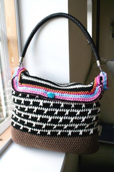 Black and White Hobo Bag | Luz Mendoza