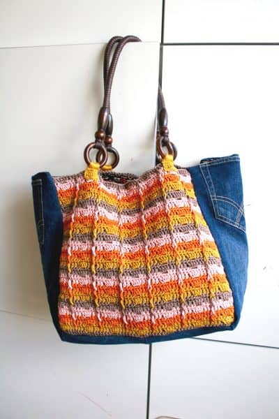 Upcycled Denim Shopper | Luz Mendoza