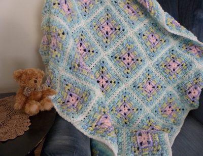 Baby Basket Weave Blanket | Mainly Crochet | Michele Maks