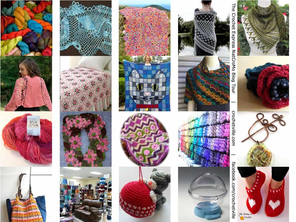 The Crochet Express NatCroMo Blog Tour | Collage