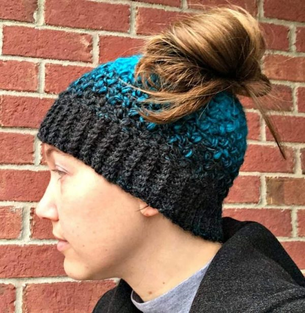 Amanda Saladin | Quick and Easy Messy Bun Hat