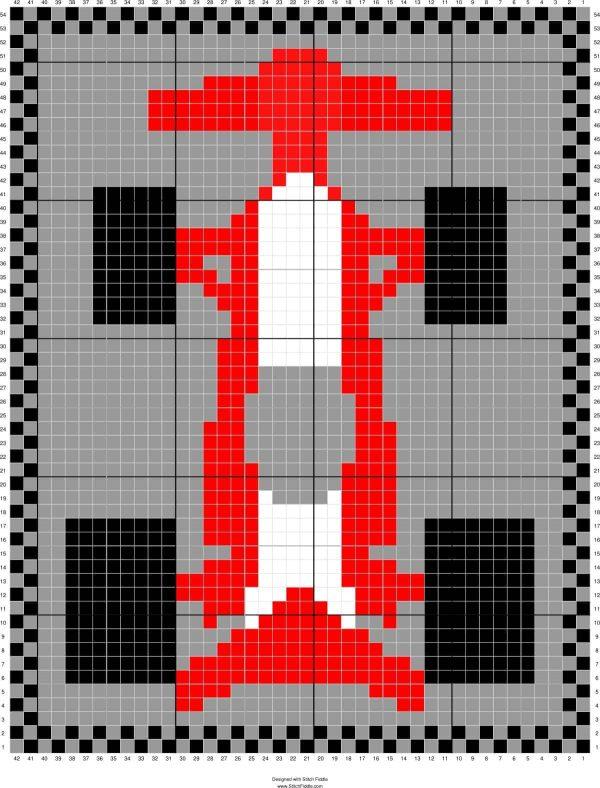 Amanda Saladin | NatCroMo Special | Free Race Car Blanket Pattern