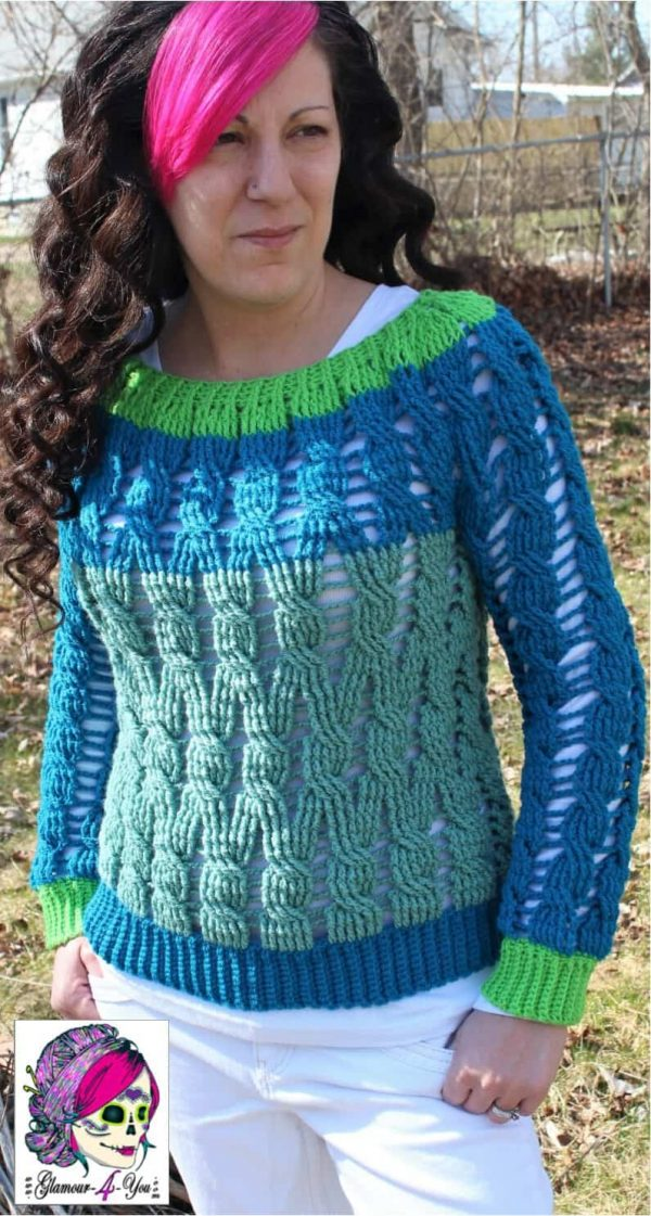 Ann Mancini-Williams | Glamour4You | Winding Ways Cable Jumper