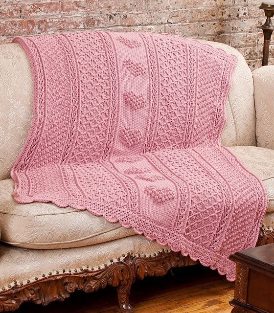 Bonnie Barker | Bonnie Bay Crochet | Aran Hearts Throw