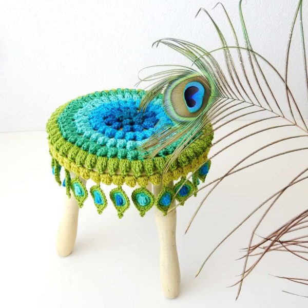 Christa Veenstra | The Curio Crafts Room | Stool Cover