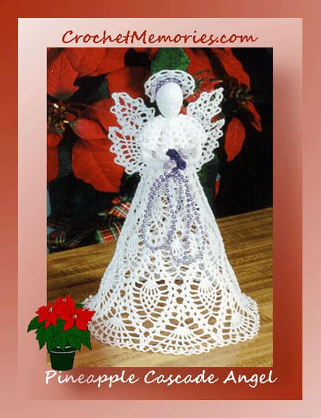 Cylinda Mathews | Crochet Memories | Pineapple Cascade Angel