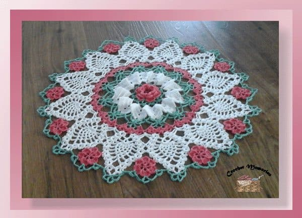 Cylinda Mathews | Crochet Memories | Sweetheart Rose Doily