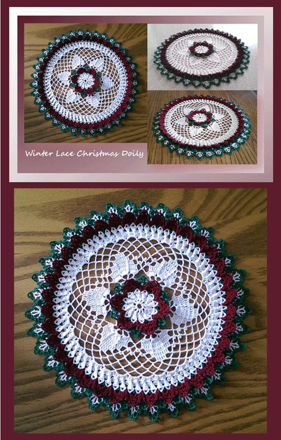 Cylinda Mathews | Crochet Memories | Winter Lace Christmas Doily