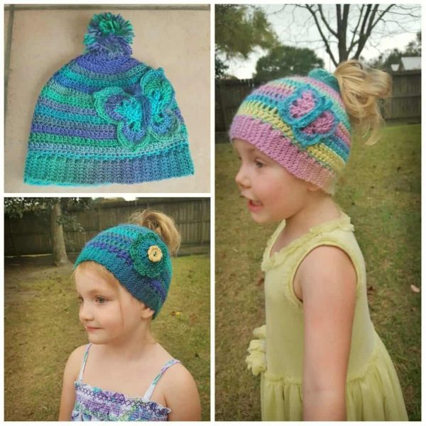 Donna Knox | Articles of a Domestic Goddess | Cotton Candy Wings Messy Bun Hat