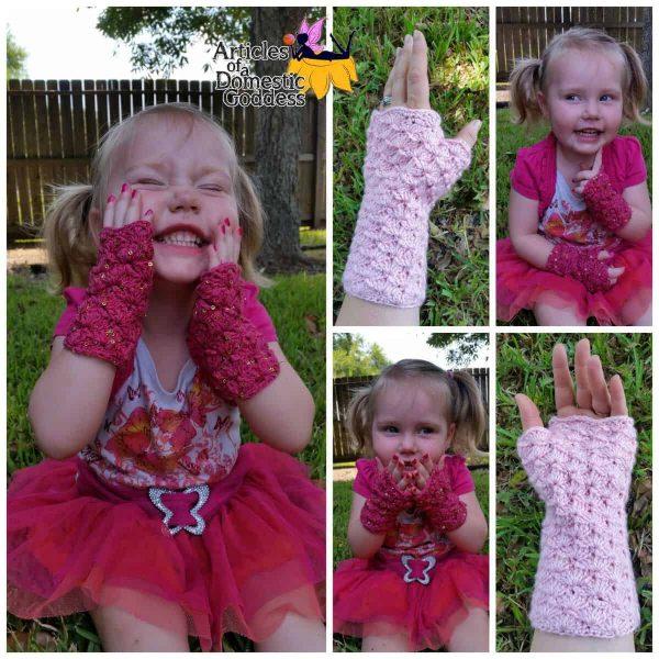 Donna Knox | Articles of a Domestic Goddess | Diamond Diva Fingerless Gloves