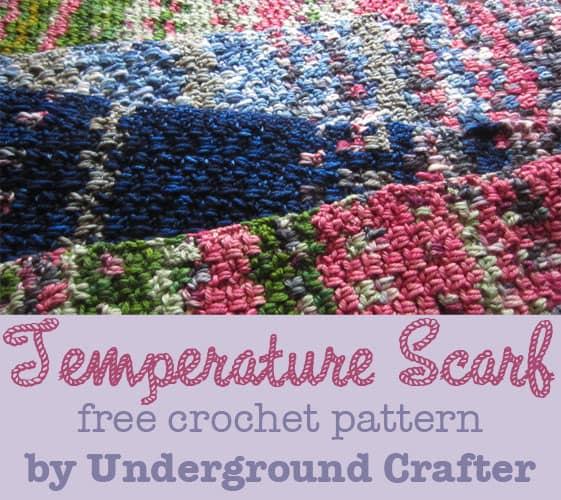 Marie Segares | Underground Crafter | Temperature Scarf