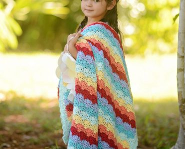 Chasing Rainbows Afghan by Lisa Naskrent