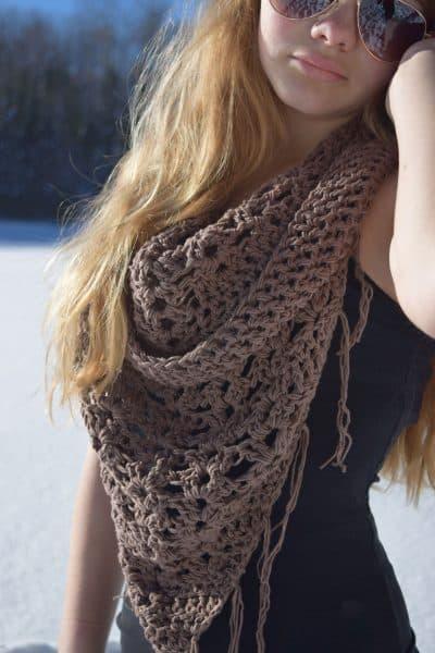 #55 Crochet Triangle Shawl - Melissa Thibault