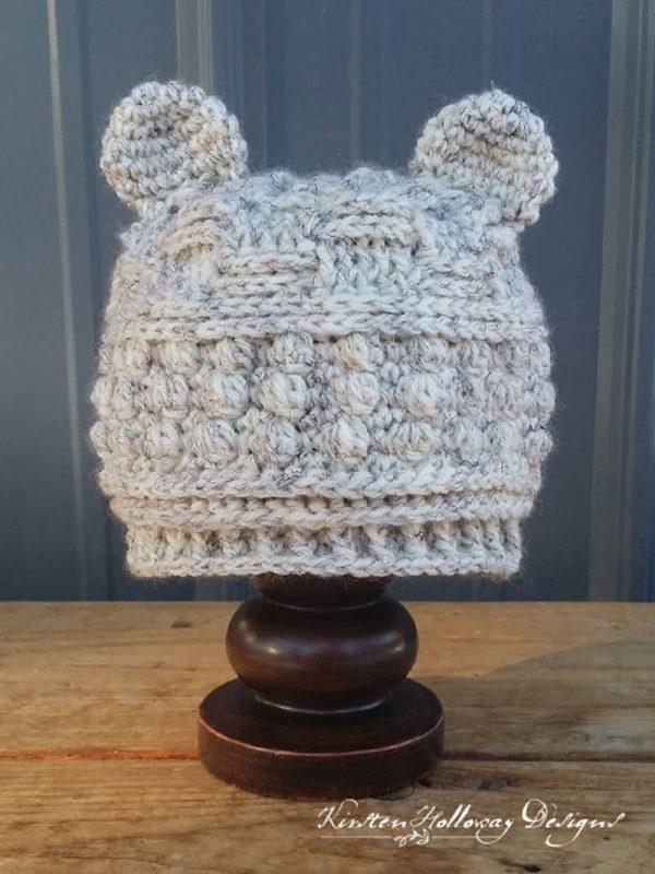 Bear Hugs Baby Beanie - Crochet - Kirsten Holloway