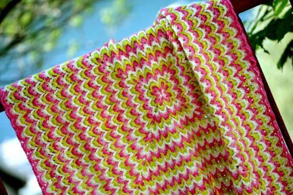 Bargello Blanket by Lena Fedotova