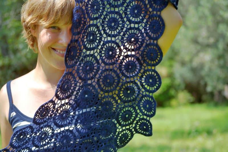 Ink Ripples Wrap by Lena Fedotova