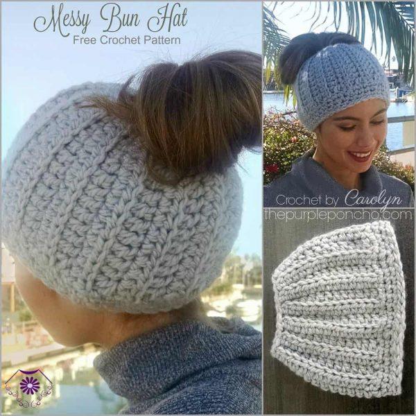 Messy Bun Hat - Carolyn Calderon