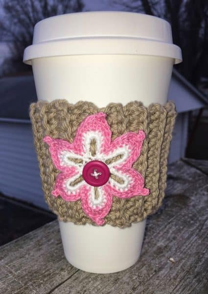 Mocha Latte Cup Cozy - Crochet - Brenda Stratton