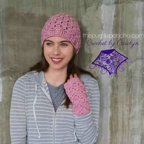 Pretty in Pink Hat and Gloves Set - Carolyn Calderon