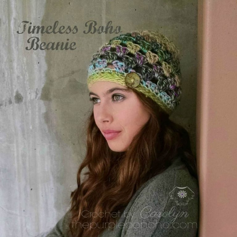 Timeless Boho Beanie - Carolyn Calderon