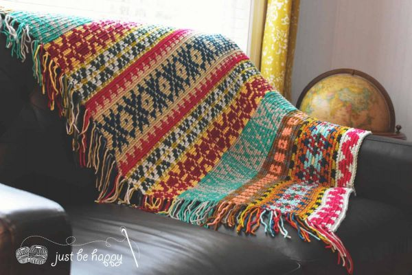 Alessandra Hayden | Just Be Happy Crochet | Sampler Blanket