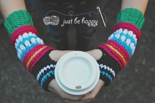 Alessandra Hayden | Just Be Happy Crochet | Hop, Skip & Jump Mitts