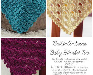 Baby Blanket Trio - Crochet - Jocelyn Sass