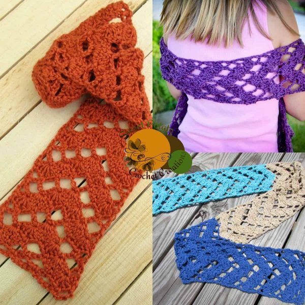 Carol Rupprecht | Sweet Potato Crochet Ceations | Caution to the Wind Scarf