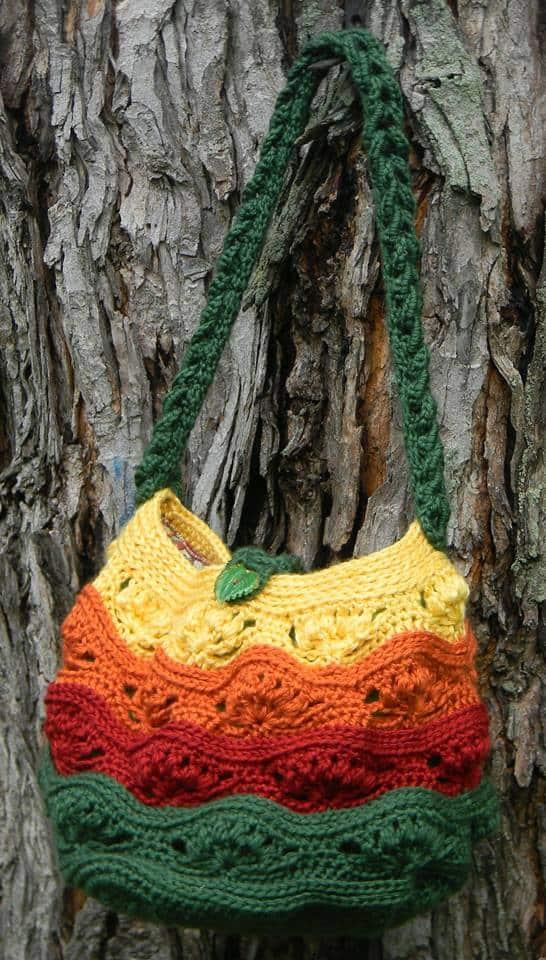 Carol Rupprecht | Sweet Potato Crochet Creations | Twilight Horizon Hand and Shoulder Bag