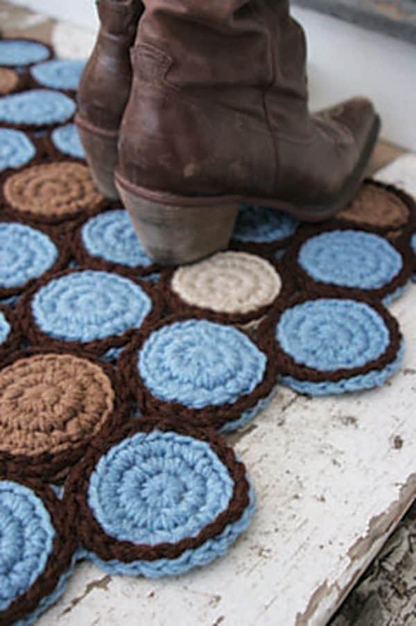 Circle Motif Rug - Crochet - Donna Hulka