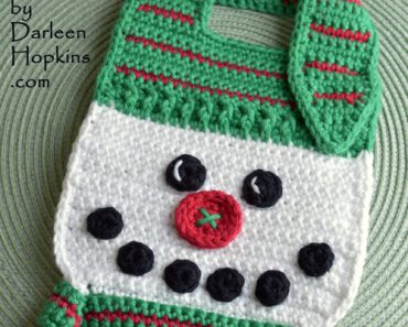 Darleen Hopkins | Button Nose Snowman Bib