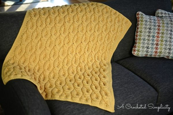 Jennifer Pionk | A Crocheted Simplicity | Cascading Cables Afghan
