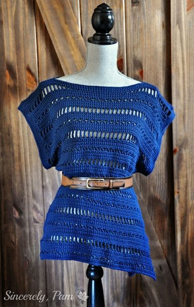 Jenny Oversied Tee - Crochet - by Sincerely Pam