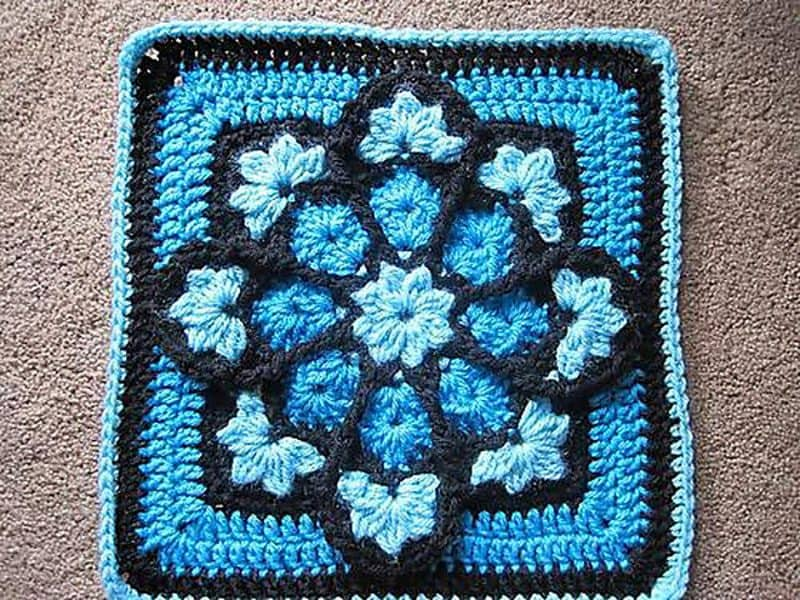 JulieAnny's Stained Glass Afghan Square - Juie Yeager