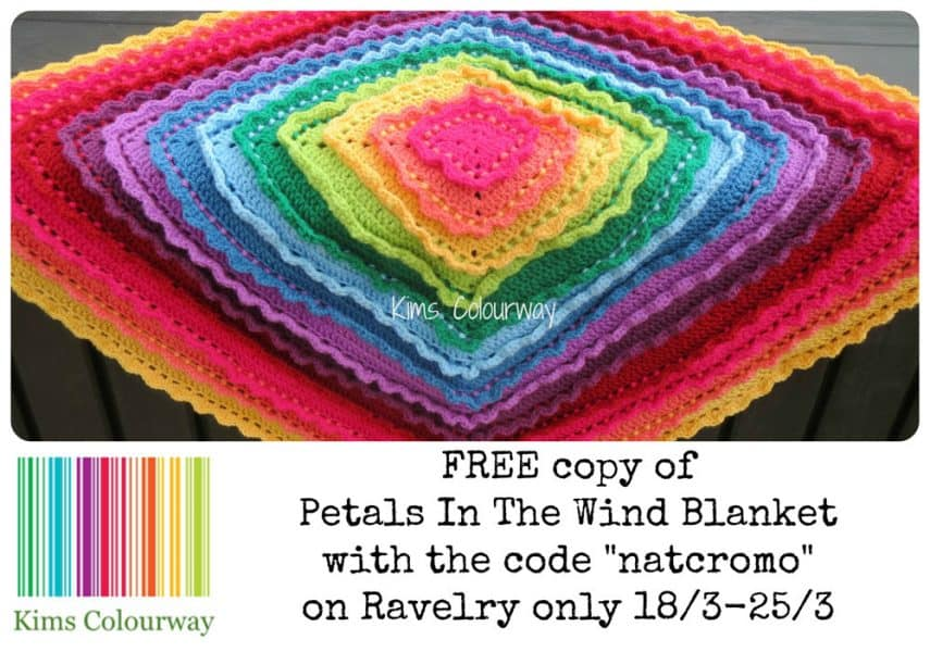 Kim's Colourway - NatCroMo Freebie - Petals in the Wind Blanket